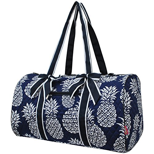 Southern Pineapple Print NGIL Large Quilted Duffle - Pineapple Large Print