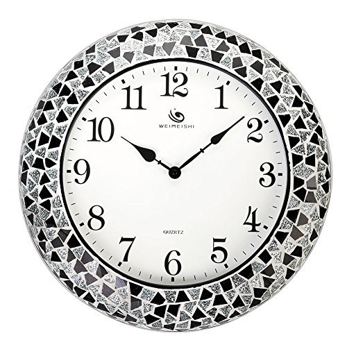 Round-Stylish-Quartz-Silent-Non-ticking-Wall-Clock-with-Glass-Cover-and-Ceramic-Chip-frame