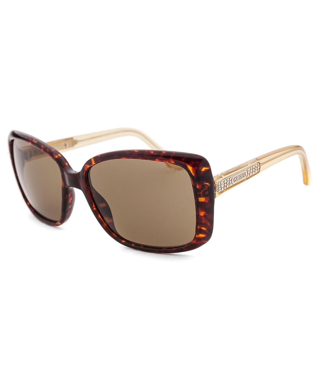 Guess Women' GUP2021 GUP/2021 TO-1 Tortoise Polarized Fashion Sunglasses 58mm