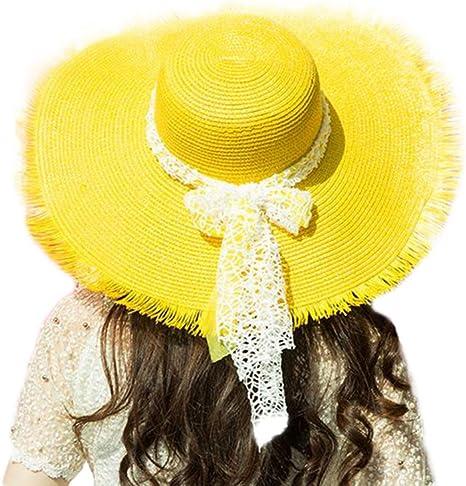 Da. WA verano sombrero moda Spinning playa sol sombrero para las ...