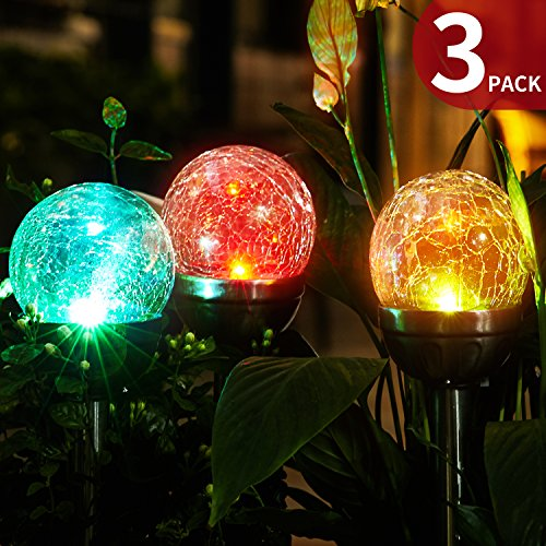 Blown Glass Garden Lights