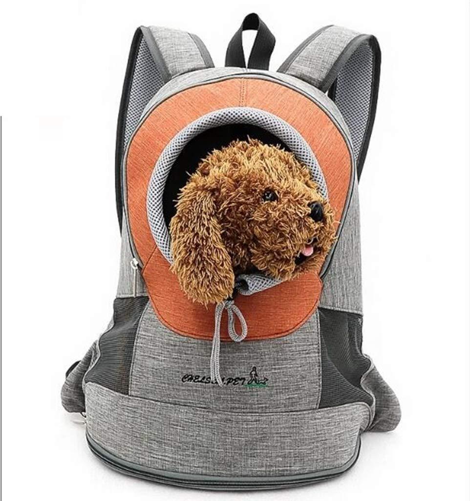 Small Pet Backpack Puppy Backpack Pet Backpack Pet Bag Pet Chest Bag Pet Travel Bag orange,S