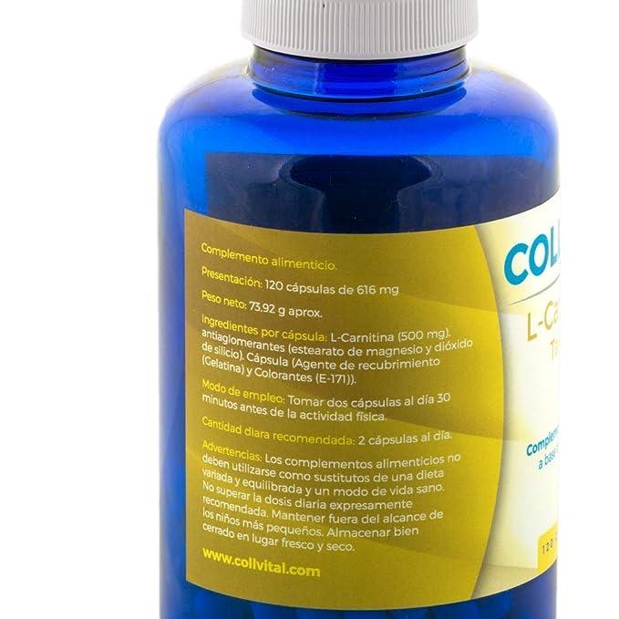 L CARNITINA pura 100% concentrada 120 capsulas complemento para la pérdida de peso y potente quemador de grasa. Más energía y resistencia aminoácido para el ...