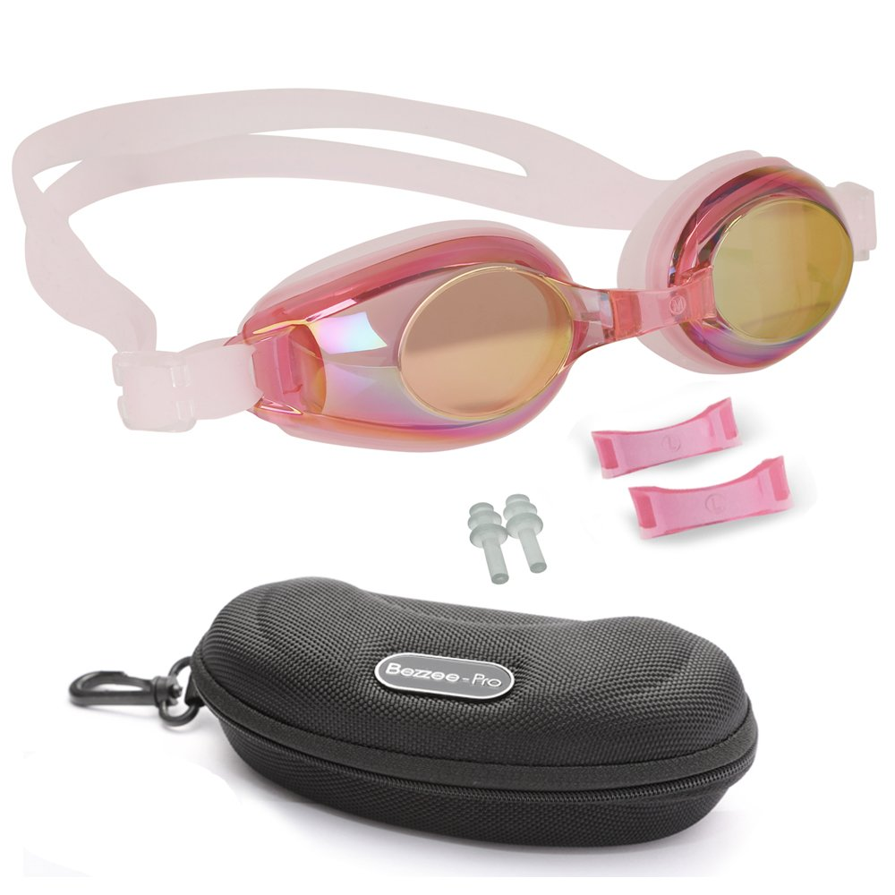 24e83d3460 Kids Swimming Goggles with 3 Adjustable Nose Bridge   100% UV Protected Anti -Fog