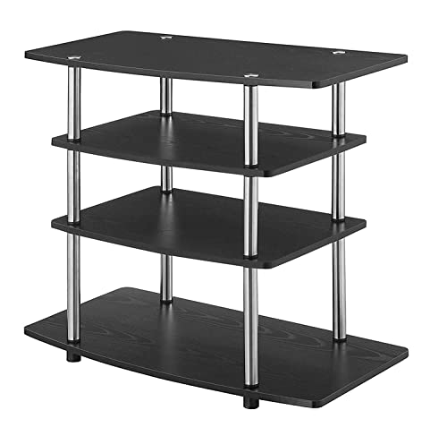 Convenience Concepts Designs2Go No Tools Highboy TV Stand, Black,