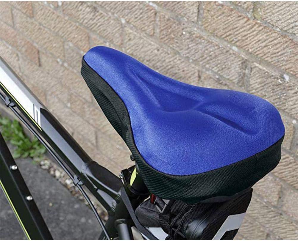 breit WGLG Gel-Fahrradsitz f/ür Fahrradsattel weicher Bezug 3D weich Silikon-Gel-Pad gro/ße Gr/ö/ße