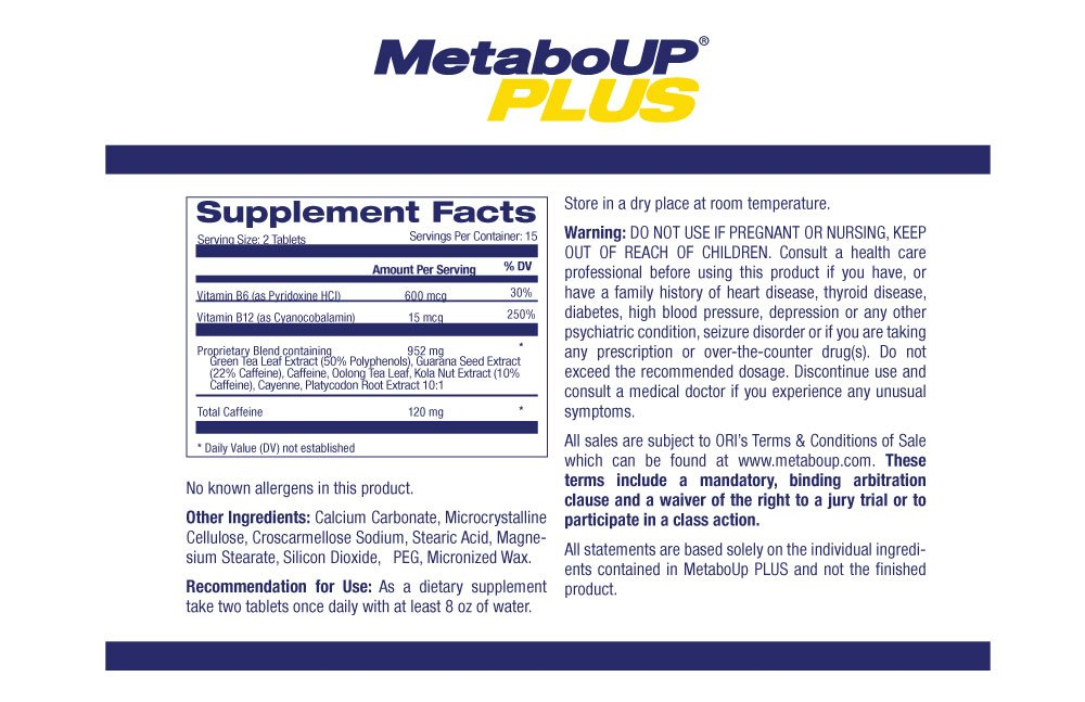 Lipozene Weight Loss Pills 2x30 Count Bottles with 30 Count MetaboUp Plus by Lipozene (Image #8)