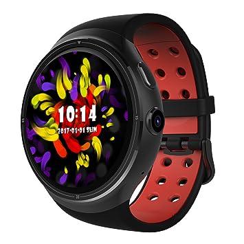 Auntwhale Reloj Inteligente 1.39 Pulgadas Pantalla táctil Circular Bluetooth cámara wi-fi Monitor de frecuencia cardíaca podómetro Reloj Smartwatch Soporte ...