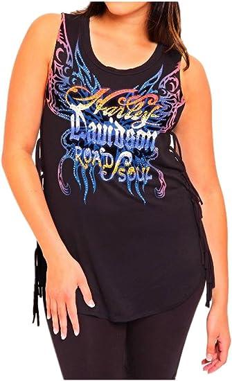 Black Harley-Davidson Women/'s Embellished Further Superior Flowy Tank Top