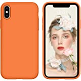 iPhone Xs Case,iPhone X Case, DUEDUE Liquid Silicone Soft Gel Rubber Slim Cover with Microfiber Cloth Lining Cushion Shockpro