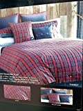 Tommy Hilfiger Bear Mountain Plaid Twin Comforter Cover / Duvet Set