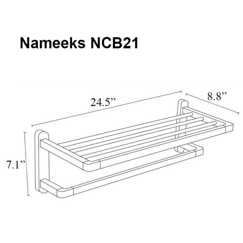 Nameeks NCB21 NCB Train Rack One Size Chrome by Nameeks (Image #2)