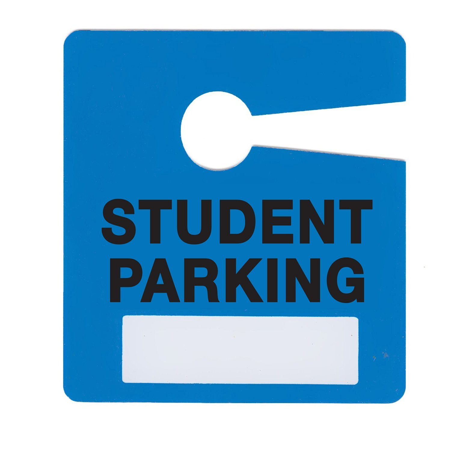 Student Parking Permit Pass Stock Hang Tags for College, Universities, High School by Milcoast,10 Pack (Blue)