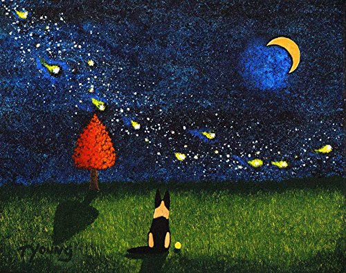 (German Shepherd Dog LARGE Art PRINT by Todd Young FOLLOW YOUR DREAMS)