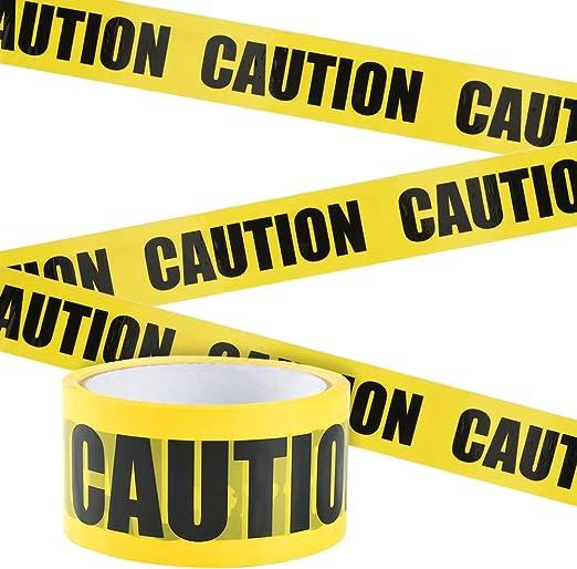 OPP Warnung Absperrband mit Mutige Schwarze Font f/ür Arbeitsplatz Gefahrenzone Gelb-SchwarzCAUTION, 25m*4,8cm Irich Wasserdicht Warnband Selbstklebend