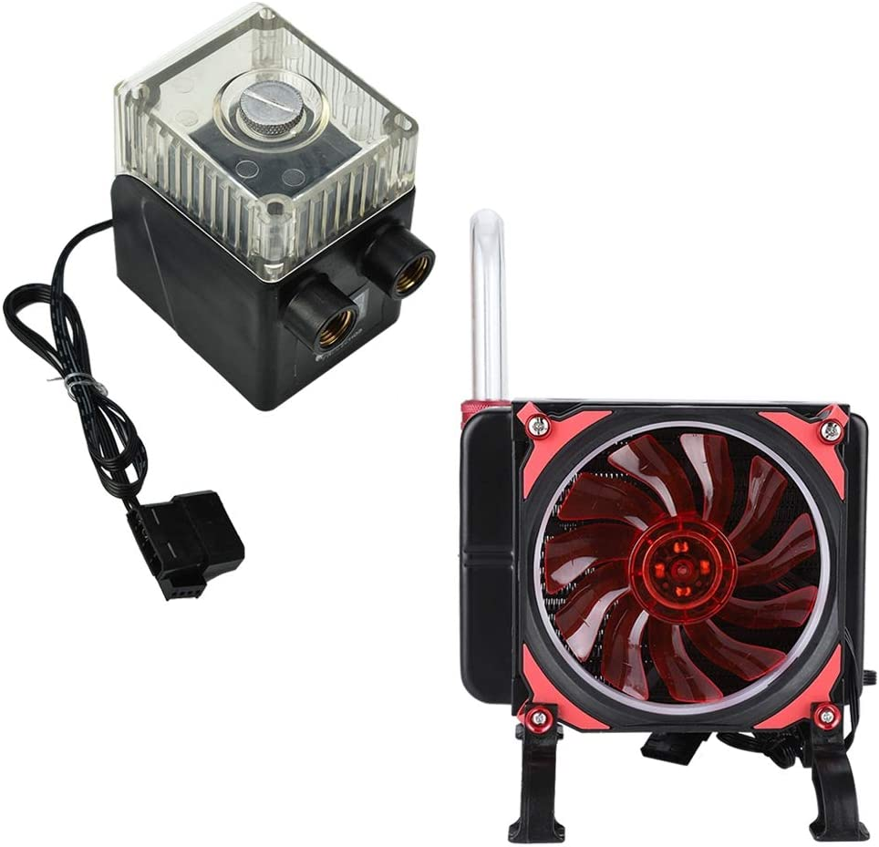 Notebook Water-Cooled Suit Computer Water Cooling System Kit PC Water Water-Cooled Radiator Kit for Laptop G1//4 Thread Water Row G1//4 200L//H Water Pump 3W Cooling Fan