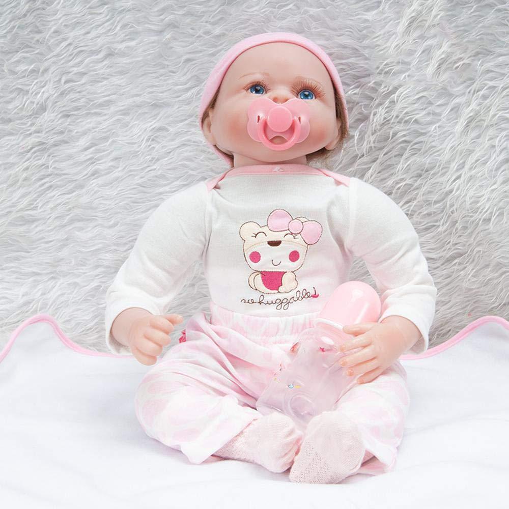 Hongge Reborn Baby Doll,Muñeca renacida Realista de los 55cm Regalo Real del Juguete de la muñeca