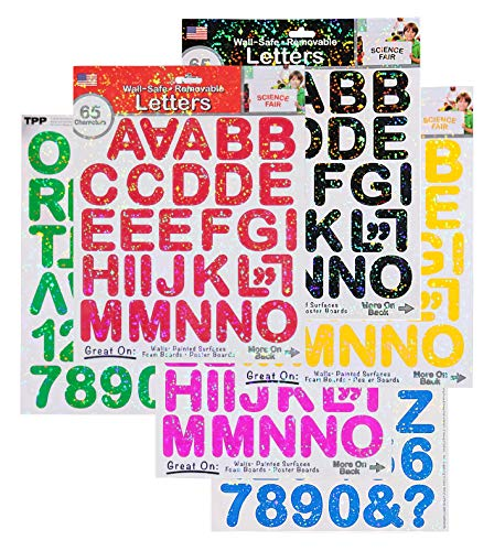 THE PEEL PEOPLE Wall-Safe Removable Letters & Numbers (390 Total Stickers) -