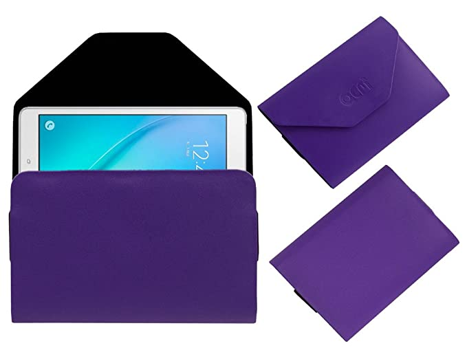 Acm Pouch Case for Samsung Galaxy Tab A T355 Flip Flap Cover Holder Purple Tablet Accessories