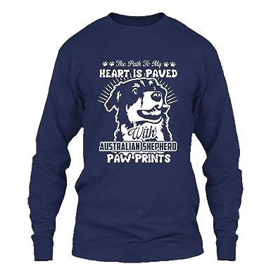 21e0884e1 Addblack Australian Shepherd T Shirt - Australian Shepherd Cool T Shirts  Design Long Sleeve (S