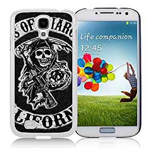Beautiful Designed Case With Sons of Anarchy Logo White For Samsung Galaxy S4 I9500 i337 M919 i545 r970 l720 Phone Case