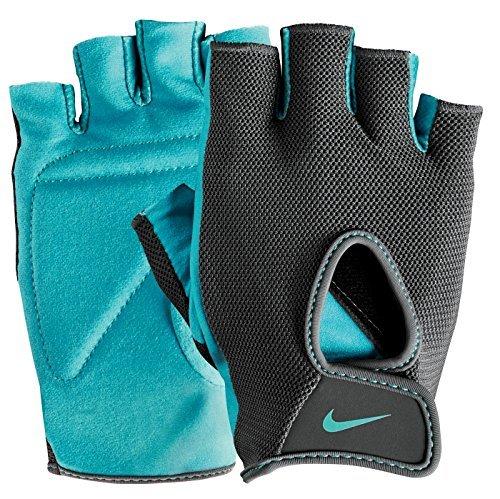 Nike Fundamental - Nike Women's Fundamental Training Gloves II (Dark Grey/Clear Jade, Large)