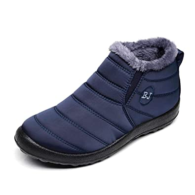 2037b904418 Womens Snow Boots Waterproof Blue Size 6 Women s Winter Boots for Ladies  Girls Woman Warm Ankle