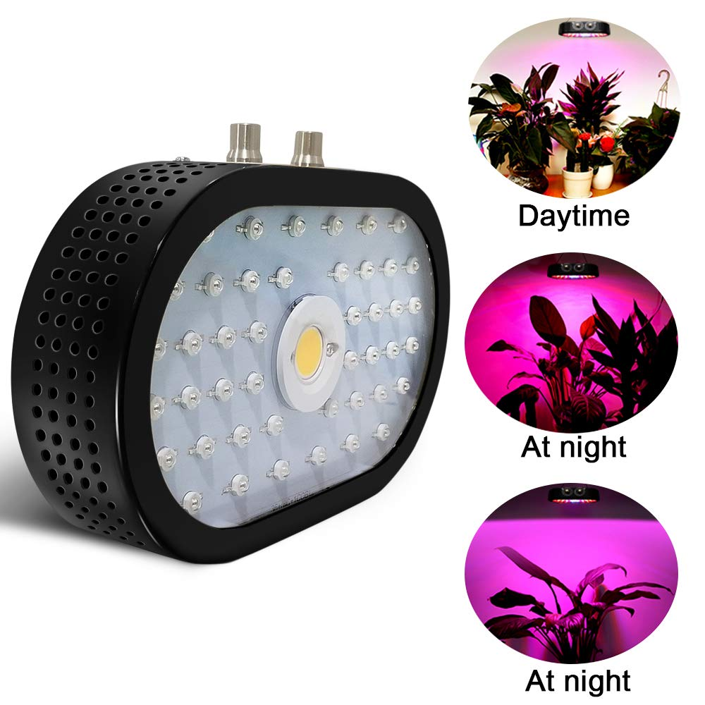 LED Grow Light Veg and Bloom Double Switch Grow Lamp for Indoor Plants Veg and Flower 44 LEDs + 1 COB Tinnyfy 1100W Plant Grow Lights with Rotate Button Controls 0/%-100/% Adjustment Brightness