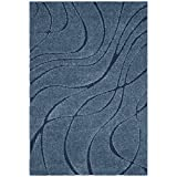 Cheap Safavieh Florida Shag Collection SG471-6065 Light Blue and Blue Area Rug (5'3″ x 7'6″)