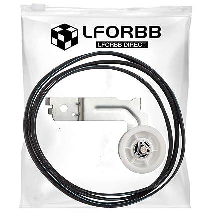amazon com dc93 00634a dryer idler pulley \u0026 6602 001655 belt kit