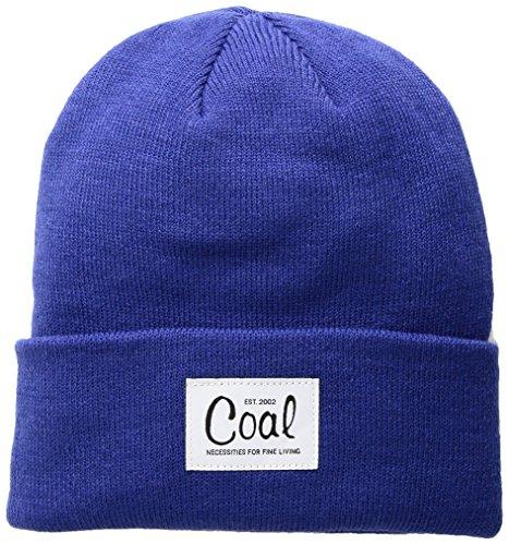 Coal Women's The Mel Fine Knit Workwear Cuffed Beanie Hat, Blue, One Size