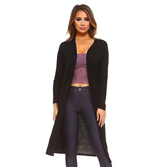 Open Front Long Lightweight Cardigan at Amazon Women's Clothing store:
