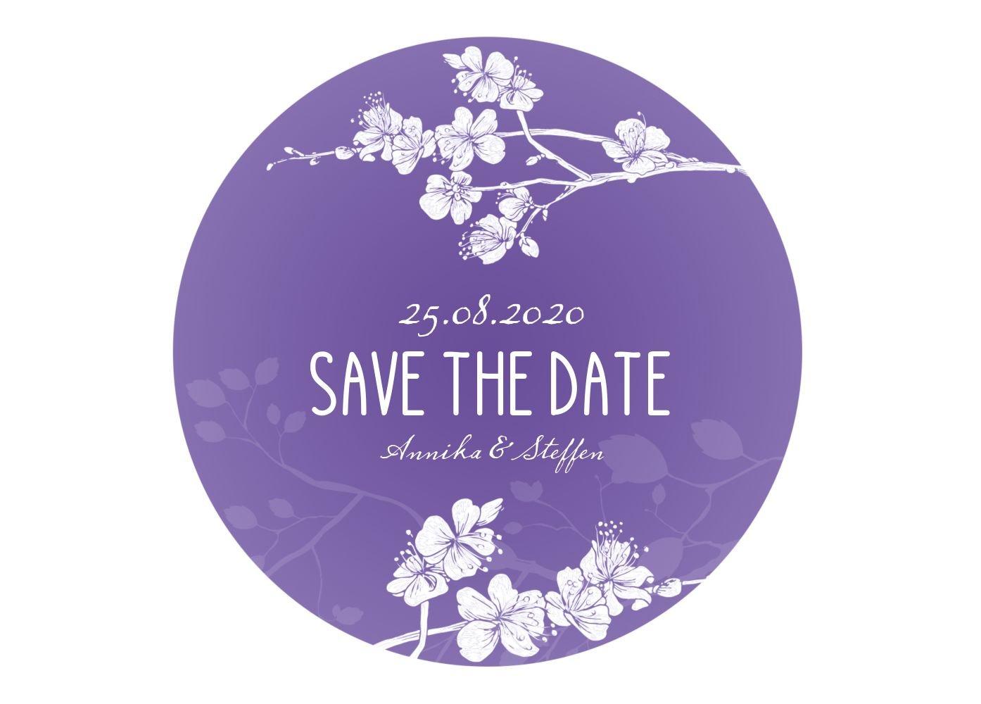 Save-the-Date Cherry Blossom, 80 Karten, Lilamatt B07B6NNYM3 | Guter Guter Guter weltweiter Ruf  | Bekannt für seine schöne Qualität  | Qualität und Verbraucher an erster Stelle  7d2838