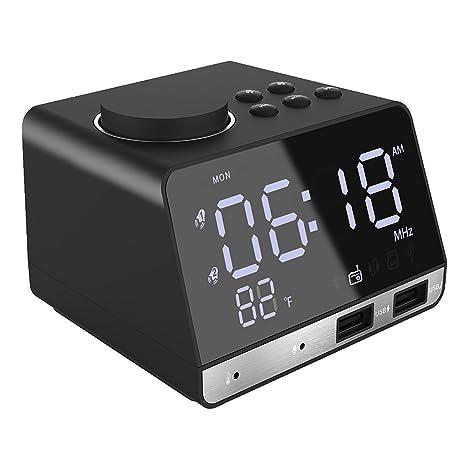 5c8a459d202 Amazon.com  Dual Alarm Clock Bluetooth Speaker by Flyoukki
