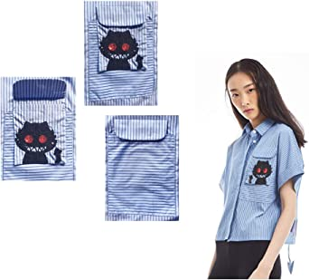 ATE Girls Little Demon Sequin and Printed Cotton Short Sleeve Striped Shirt