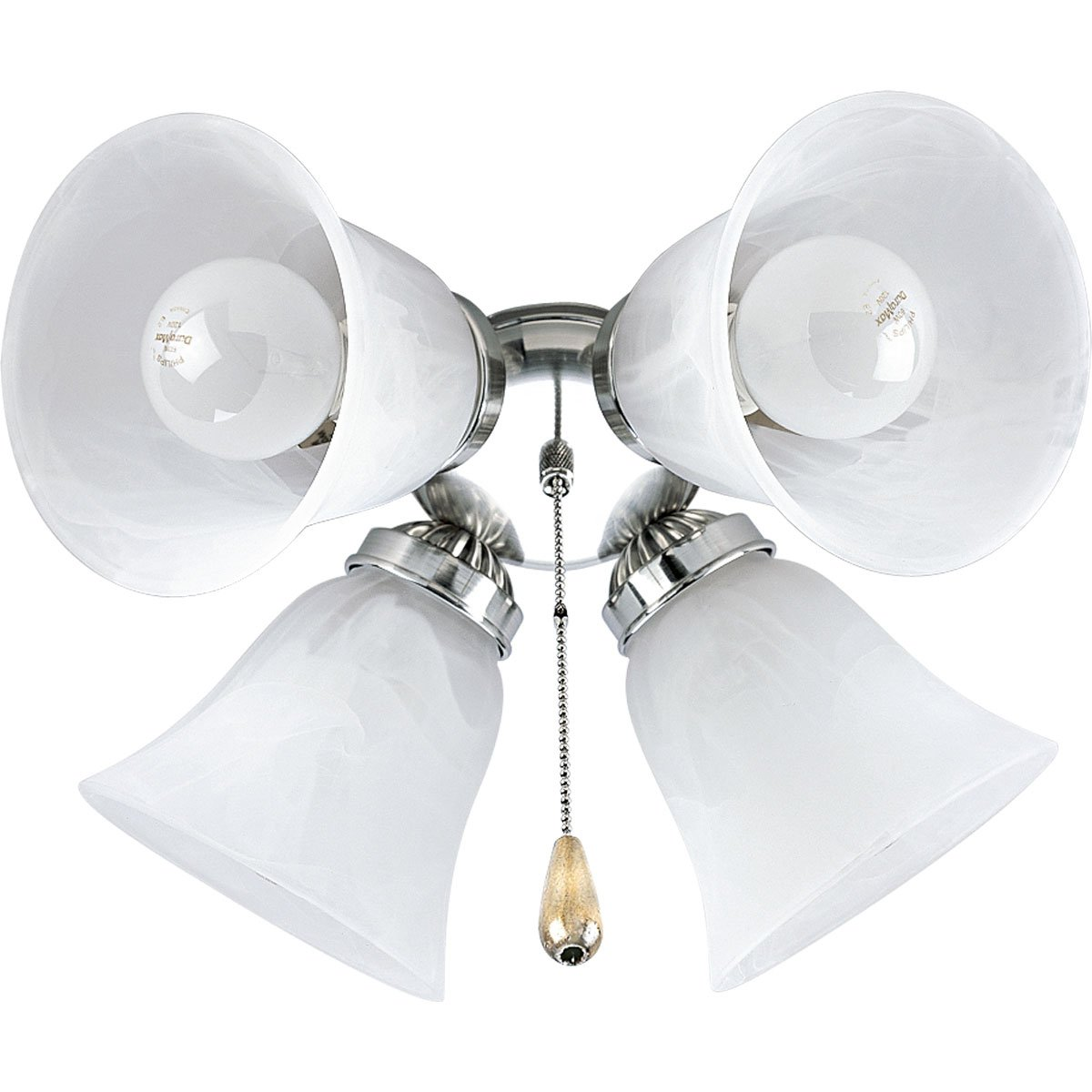 progress lighting p261009 4light kit with white washed alabaster style glass for use with p2500 and p2501 ceiling fans brushed nickel amazoncom