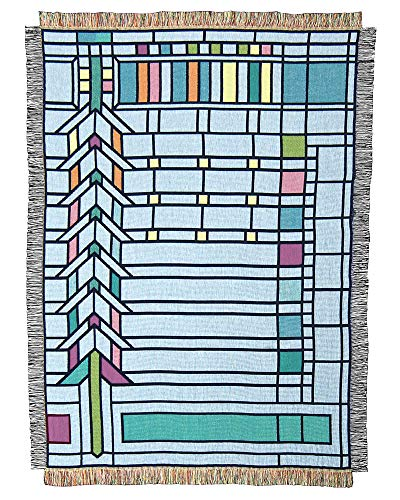 Frank Lloyd Wright Darwin Martin Pier Cluster Window Throw Blanket