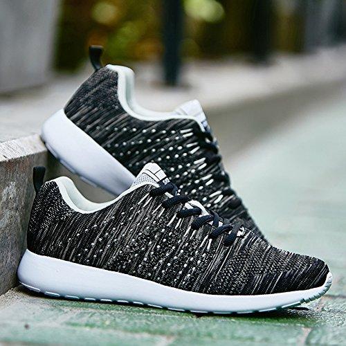 Scarpe Sportive Traspiranti Leggere E Casual Da Uomo Sneakers Senni Nere