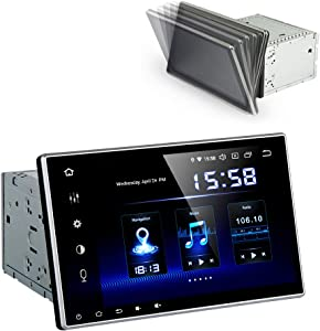 Dasaita 10 inch Adjustable Screen 2din Android 9.0 Car Stereo for Universal Radio GPS DSP System 4G Ram 64G ROM Bluetooth 5.0 15Band EQ Navigation Multimedia