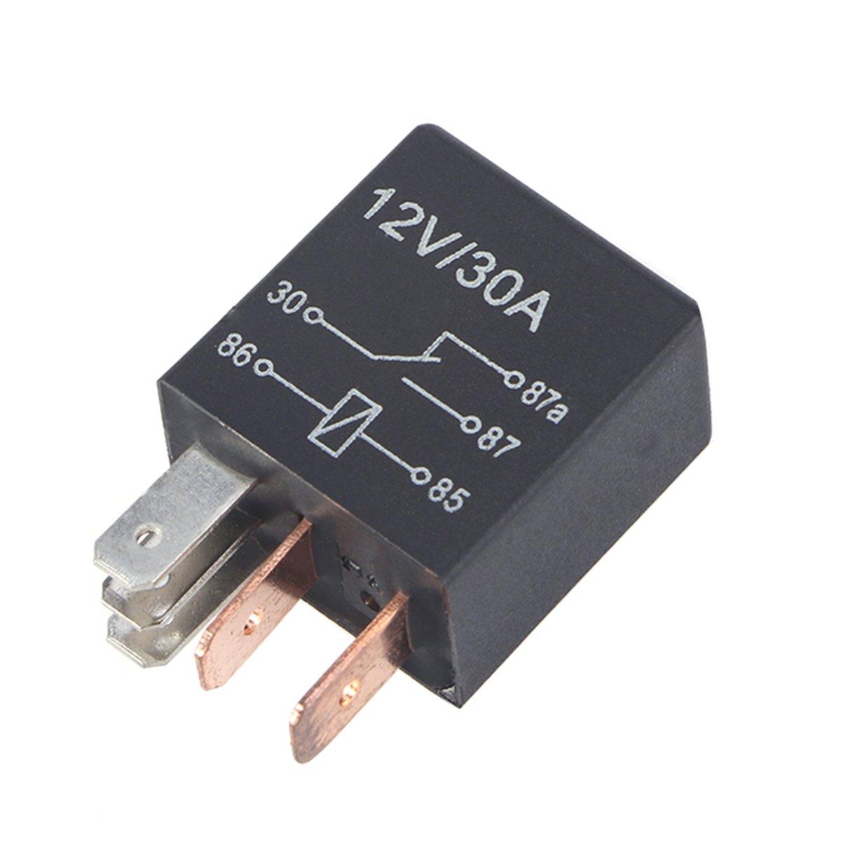 Mini Relay Rel/é a 5/pines 12/V 30/A rel/é universal para coche