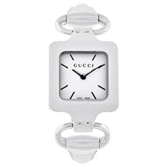 4e4e7125ede Image Unavailable. Image not available for. Color  Gucci 1921 Series White  Leather Bangle Ladies Watch YA130404