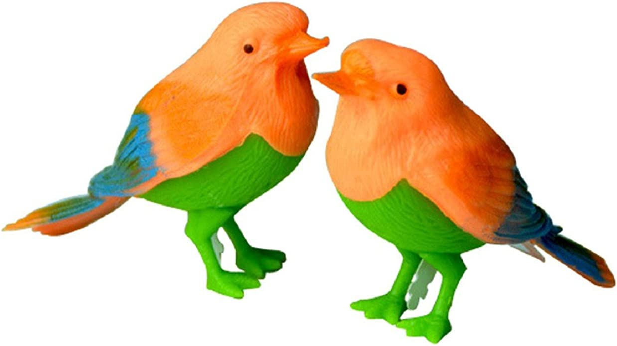 Plastic Sound Voice Control Activate Chirping Singing Bird Kids Toy Gift *DC