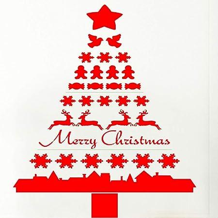 Zaosan Arte Árbol de Navidad Patrón Vinilo Etiqueta de la ...