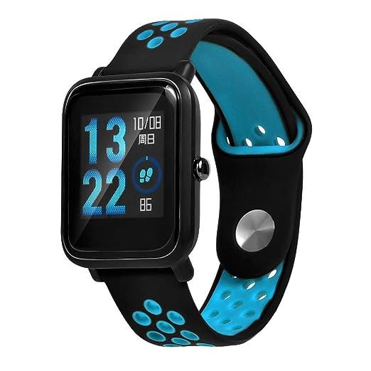 Espeedy Reloj correa de silicona de reemplazo correa de reloj para Xiaomi Huami Amazfit edición juvenil: Amazon.es: Relojes