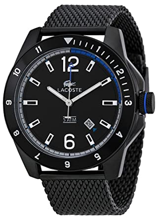 Plated Watch Dial Mesh Black 2010735 Ion Lacoste Men's Durban nOkwP80