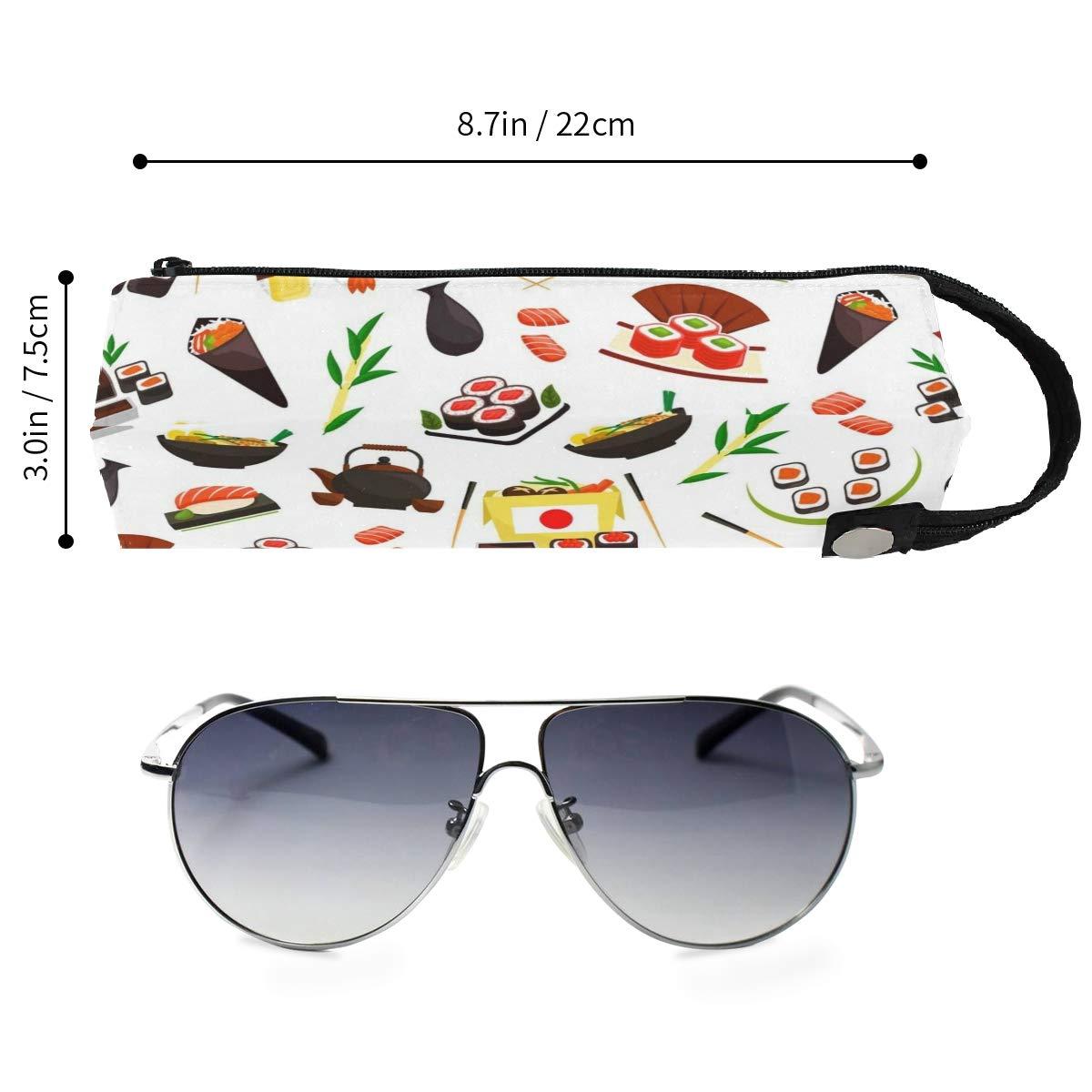 My Little Nest Eyeglass Sunglasses Holder Pouch Bag Cartoon Japanese Sushi Multi Function Zipper Pen Case Pencil Bag Organizer