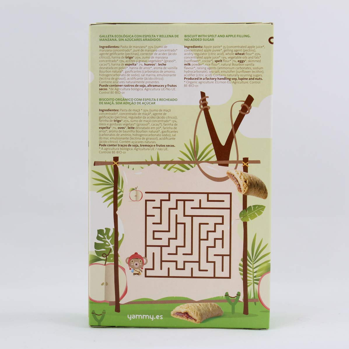 Yammy, Galleta Ecológica Infantil (Espelta Rellena de Puré Manzana) - 6 de 150 gr. (Total 900 gr.): Amazon.es: Alimentación y bebidas