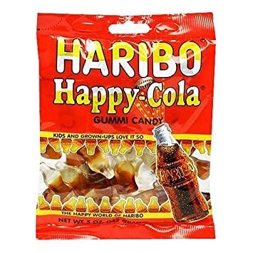 amazon com haribo happy cola gummies bag 5 oz grocery gourmet