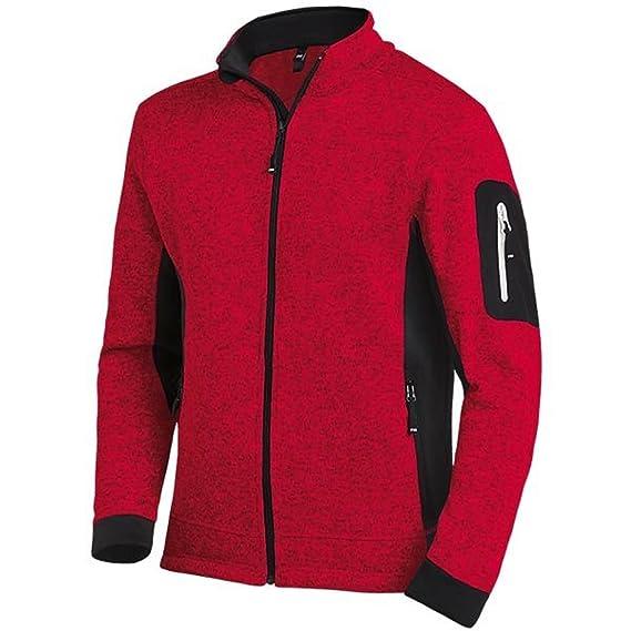 FHB Strickfleece Jacke atmungsaktiv, Farbe rot, Größe XXL  Amazon.de ... 65fbf7b47f