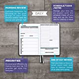 Panda Planner - Best Daily Calendar and Gratitude Journal to Increase Productivity, Time Management & Happiness - Hardcover, Non Dated Day - 1 Year Return Guarantee